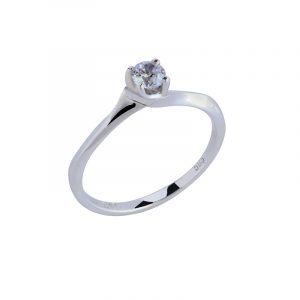 Λευκόχρυσο Δαχτυλίδι με ζιργκόν 14κ ΛΔ00010