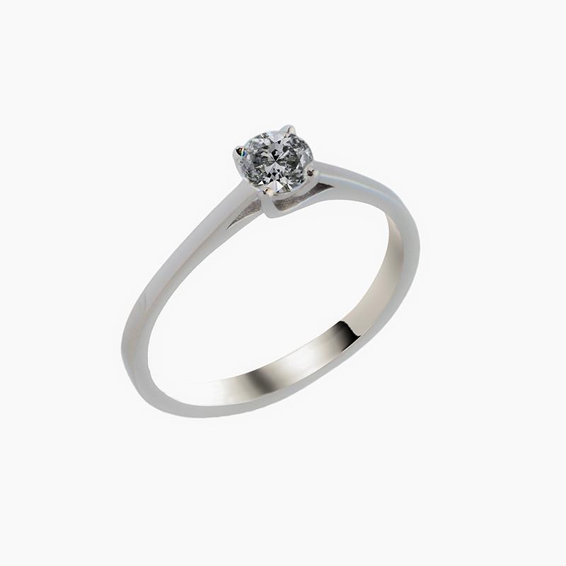 Μονόπετρο δαχτυλίδι με διαμάντι 0,33ct  ΛΔΜ00011