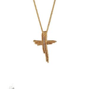 Χρυσός σταυρός Κ14  ΧΣ00018