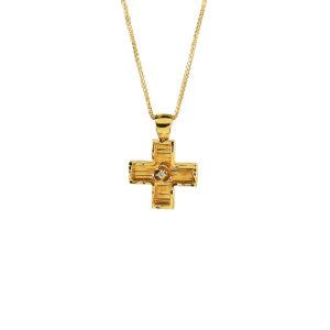 Χρυσός σταυρός Κ14  ΧΣ00021