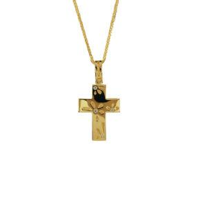 Χρυσός σταυρός Κ14  ΧΣ00023