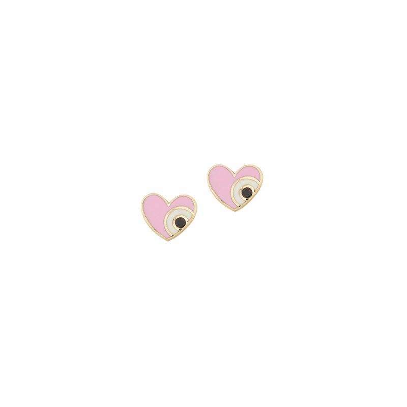 Χρυσά σκουλαρίκια 9Κ με σμάλτο   ΧΕ00010