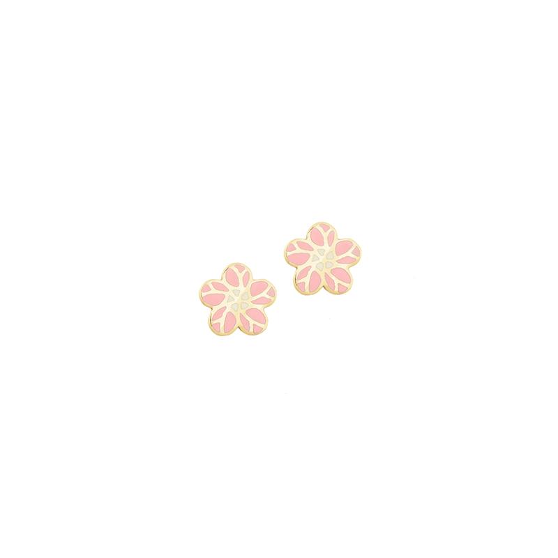 Χρυσά σκουλαρίκια με σμάλτο  ΧΕ00018