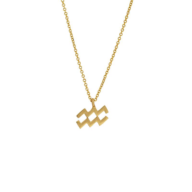 Χρυσό κολιέ 14Κ υδροχόος ΚΧ00078