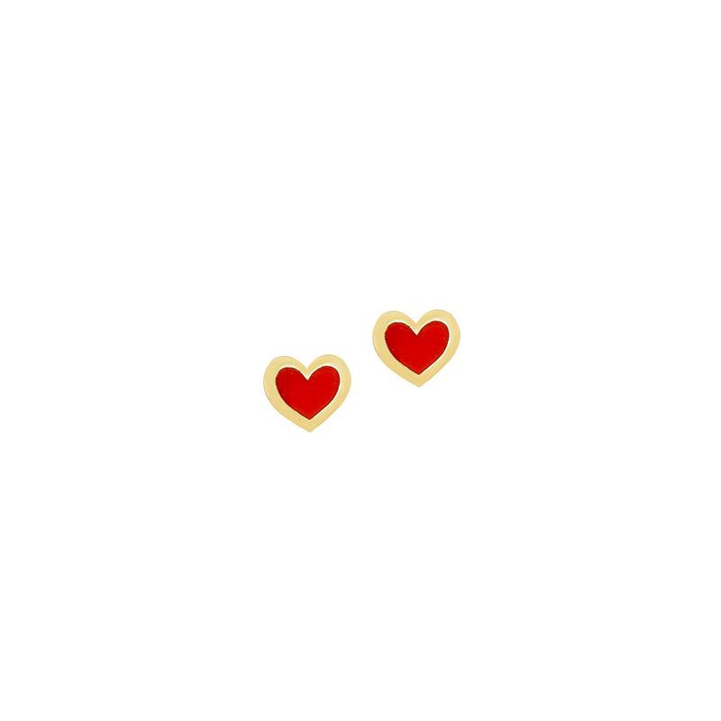 Σκουλαρίκια καρδιές χρυσά 9Κ  XE00017