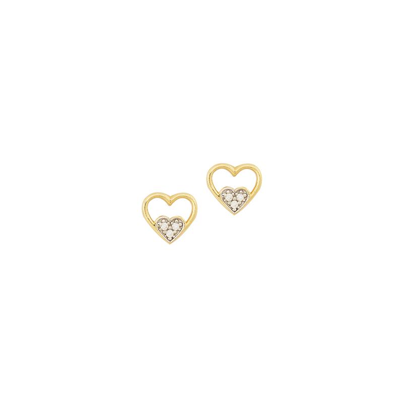 Χρυσά σκουλαρίκια καρδιά  ΧΕ00015