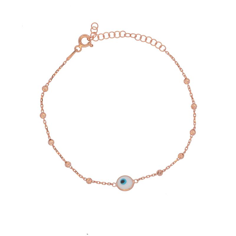 Ροζ επιχρυσωμένο βραχιόλι ΑΒ00013