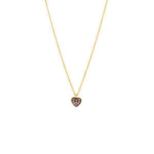 Χρυσό κολιέ καρδιά 14Κ  ΧΚ00012