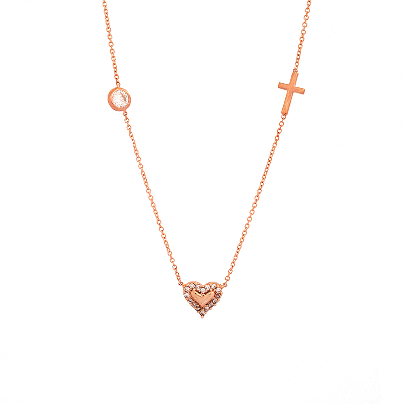 Ροζ χρυσό κολιέ 9κ ΧΚ00013 - vr-jewels c132ced2d9d