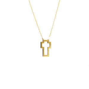 Χρυσό κολιέ σταυρός 14Κ  ΚΧ00012