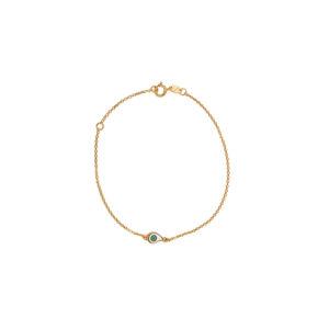 Χρυσό βραχιόλι 9κ με σμάλτο ΧΒ00022