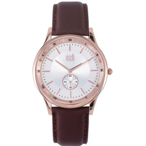 Visetti Glorious Rose Gold Brown Leather Strap ZE-625RK