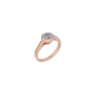Ροζ Χρυσό Δαχτυλίδι 14κ – KD00042