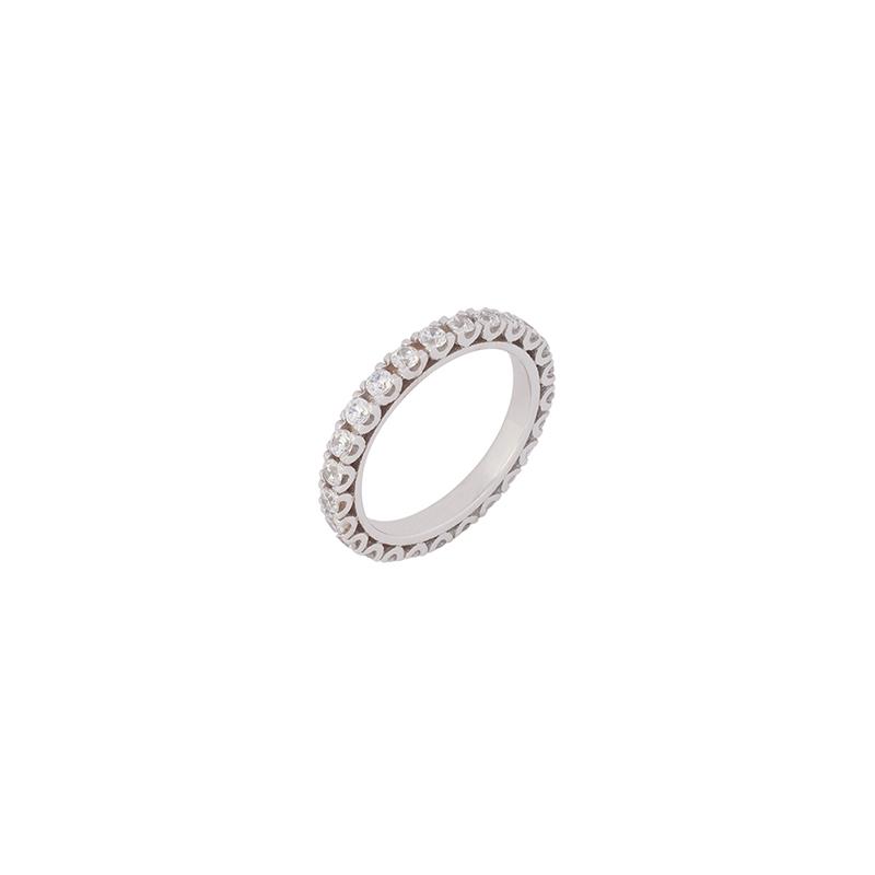 Λευκόχρυσο Δαχτυλίδι 14κ – KD00044
