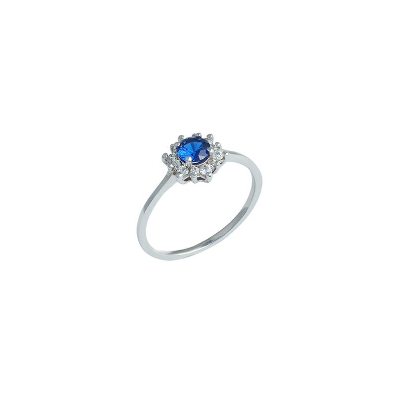 Λευκόχρυσο Δαχτυλίδι 14Κ KD00066