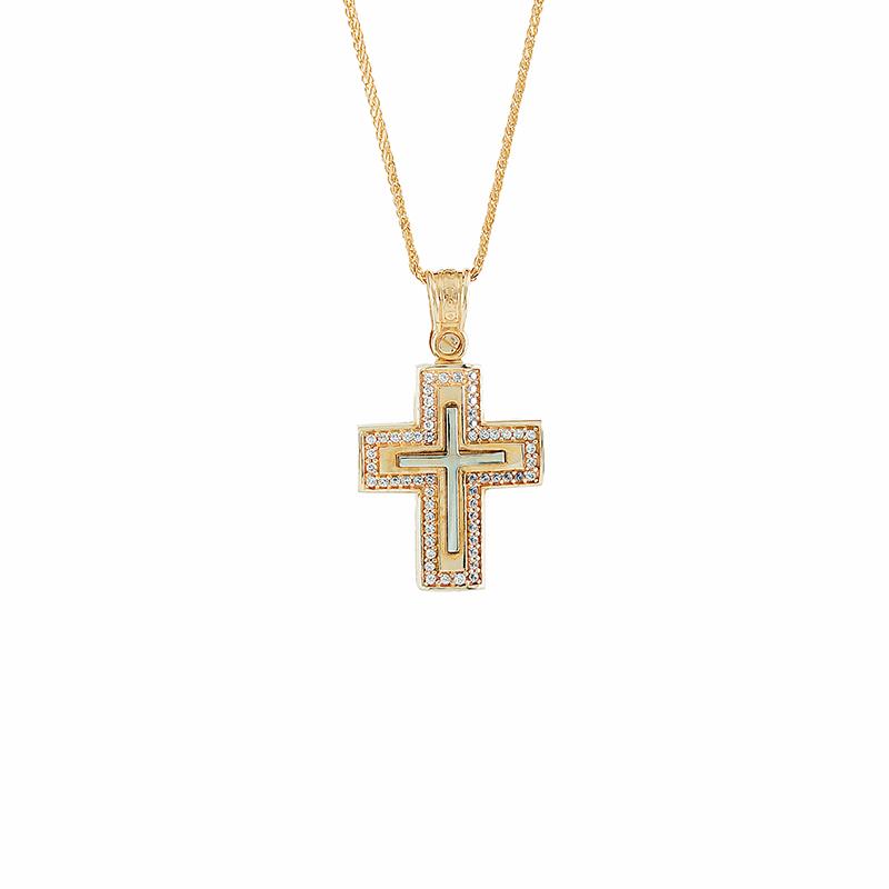 Χρυσός Σταυρός 14Κ XS00037