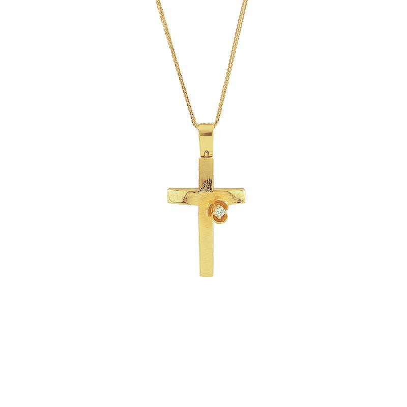 Χρυσός Σταυρός 14Κ XS00039