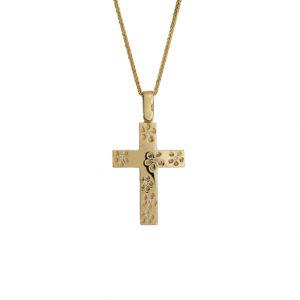 Χρυσός Σταυρός 14Κ XS00040