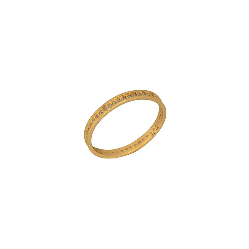 Χρυσό δαχτυλίδι ολόβερο 14κ  ΧΔ00069