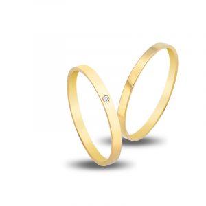 Βέρες VERES4EVER  V3120  από 14 καράτια κίτρινο χρυσό
