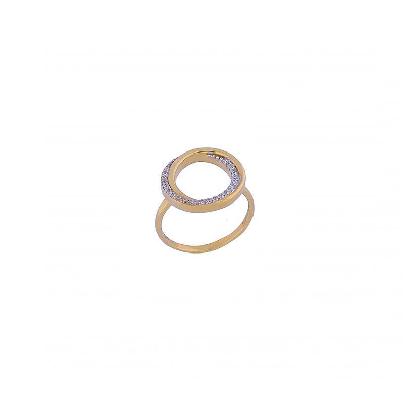 Χρυσό Δαχτυλίδι  KD00079 με ζιργκόν 14κ
