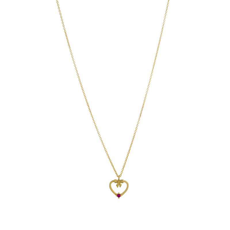 Χρυσό κολιέ καρδιά ΧΚ00096